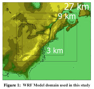 WRF Model domain used in this study
